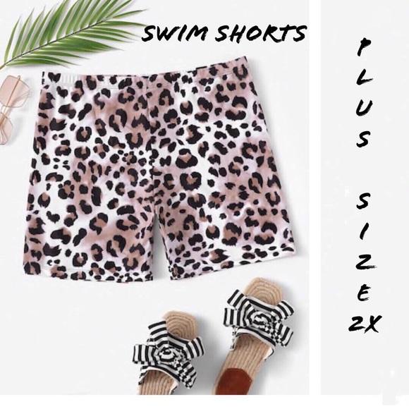 0904e81c49 Zoe Top Ltd. Swim   Plus Size Leopard Print Shorts   Poshmark